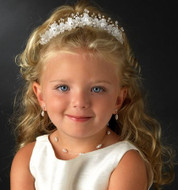Crystal and Pearl Garden Flower Girl Child's Headpiece