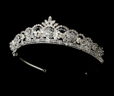 Crystal and Pearl Wedding Tiara hp1038
