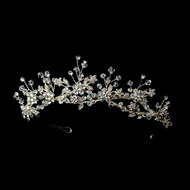 Crystal and Rhinestone Floral Wedding Tiara - sale!