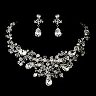 Crystal and Rhinestone Bridal Jewelry Set