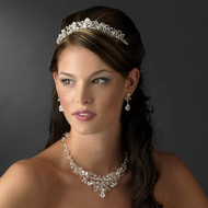 Crystal and Rhinestone Tiara with Matching Jewelry