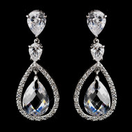Crystal and Rhinestone Wedding Earrings