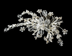 Floral Crystal Boutique Bridal Comb