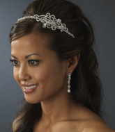 Pearl and Crystal Bridal Headband with Side Accent