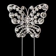 Crystal Butterfly Wedding Cake Topper CJ1026