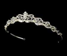 Elegant Crystal and Freshwater Pearl Bridal Tiara