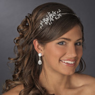 Crystal Vine Floral Side Accent Wedding Headband