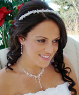 Crystal Romance Headband Tiara and Jewelry Set
