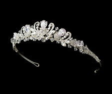 Crystal Couture Floral Bridal Tiara