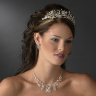 Crystal Vine Wedding Tiara and Matching Jewelry Set - sale!