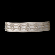 Rhinestone Beaded Wedding Dress Belt - sale!