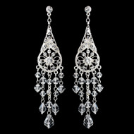 Crystal and Rhinestone Chandelier Wedding Earrings