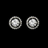 Cubic Zirconia Stud Bridal Earrings