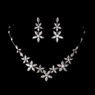 Cubic Zirconia Wedding Necklace and Earring Set- sale!