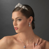 Dazzling Rhinestone Wedding Tiara and Jewelry Set