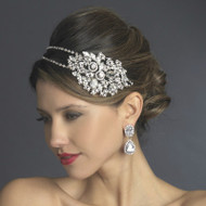 Double Band Bold Side Accent Rhinestone Wedding Headband