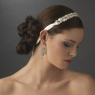 Double Satin Ribbon Rhinestone Bridal Headband