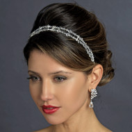 Double Wedding Headband with Swarovski Crystals
