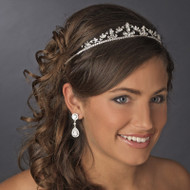Enchanting Silver Plated Rhinestone Wedding Tiara- sale!