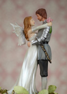 Fantasy Fairy and Knight Wedding Cake Topper