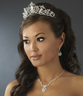 Fairytale Bridal Tiara and Rhinestone Wedding Jewelry Set