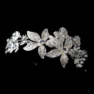 Flower and Butterfly Crystal Bridal Headband