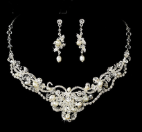 Freshwater Pearl and Crystal Wedding Jewelry ne7825