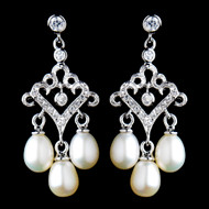 Freshwater Pearl Chandelier Wedding Earrings