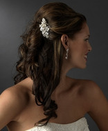 Charming Freshwater Pearl and Crystal Bridal Hair Comb