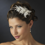 Freshwater Pearl and Rhinestone Side Accent Wedding Headband