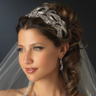 Antique Silver or Gold Great Gatsby Bold Wedding Headband Tiara