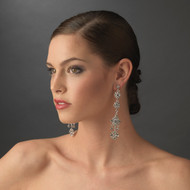 Glamorous Austrian Crystal Chandelier Bridal Earrings