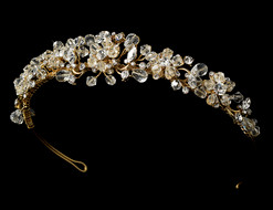 Gold Plated Crystal Bridal Tiara
