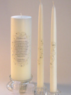 I Corinthians 13 Lace and Crystal Personalized Unity Candle Set