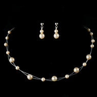 Illusion Ivory Pearl Child's Jewelry Set