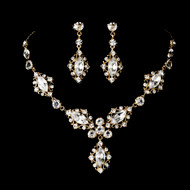 Intricate Gold Plated Bridal Jewelry Set
