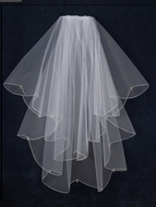 JL Johnson Bridal V1247 Crystal Drop Fingertip Wedding Veil