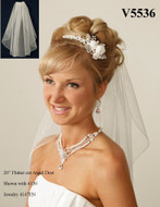 JL Johnson Bridals V5536 Angel Dust Shoulder Length Wedding Veil