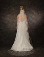 JL Johnson Bridal V5380 Chapel Length Rhinestone Scatter Veil