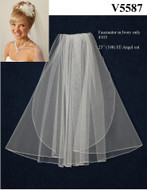 JL Johnson Bridal V5587 Shoulder Length Wedding Veil