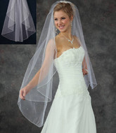 Angel Cut Knee Length Wedding Veil V5155
