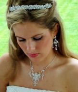 Lavish Crystal Wedding Headband and Bridal Jewelry Set