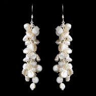 Lavish Keshi Pearl Cluster Wedding Earrings