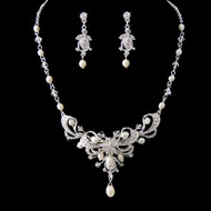 Lovely Freshwater Pearl and Crystal Wedding Jewelry Set