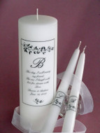 Lovebirds Verse Swarovski Crystal Wedding Unity Candle Set