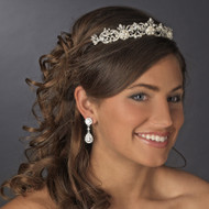 Victorian Lace Silver Freshwater Pearl Bridal Tiara