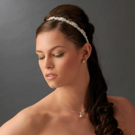 Vintage Inspired Satin Ribbon Bridal Headband - sale!