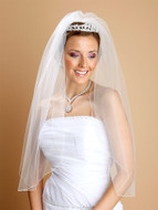 One Layer Pencil Edge Elbow Length Veil