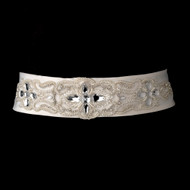 Glamorous Pearl and Crystal Beaded Bridal Belt