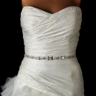 Glitzy Pearl and Crystal Beaded Wedding Dress Belt Sash